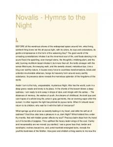 Novalis - Hymns to the Night