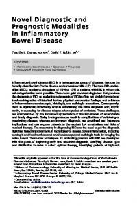 Novel Diagnostic and Prognostic Modalities in Inflammatory Bowel Disease