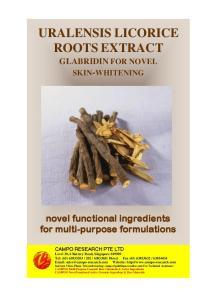 novel functional ingredients for multi-purpose formulations