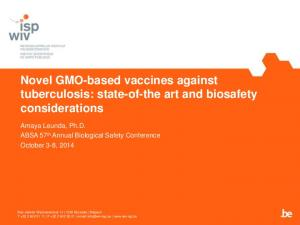 Novel GMO-based vaccines against tuberculosis: state-of-the art and biosafety considerations