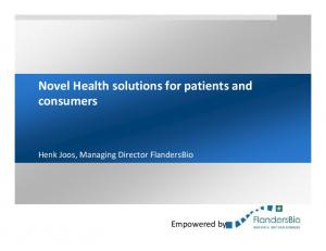 Novel Health solutions for patients and consumers