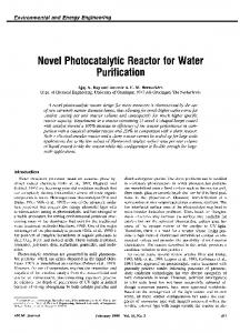 Novel Photocatalytic Reactor for Water Purification