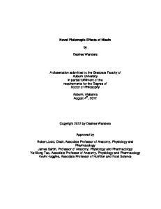 Novel Pleiotropic Effects of Niacin. Desiree Wanders