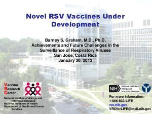 Novel RSV Vaccines Under Development