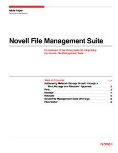 Novell File Management Suite