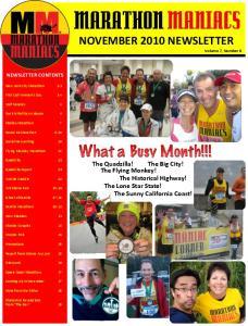 NOVEMBER 2010 NEWSLETTER Volume 7, Number 8