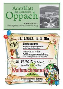 November 2013 Herausgeber: Gemeindeverwaltung