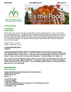 November 2013 The McDougall Newsletter Volume 12, Issue 11