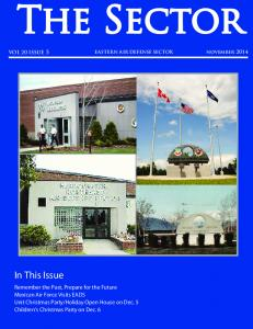 november 2014 EASTERN AIR DEFENSE SECTOR VOL 20 ISSUE 5 In This Issue