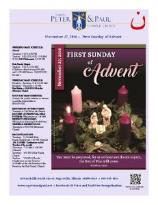 November 27, 2016 First Sunday of Advent
