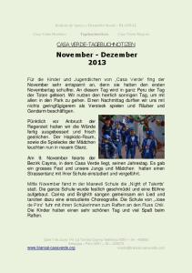November - Dezember 2013