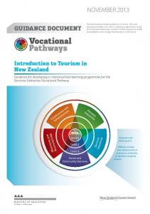 NOvember Introduction to Tourism in New Zealand
