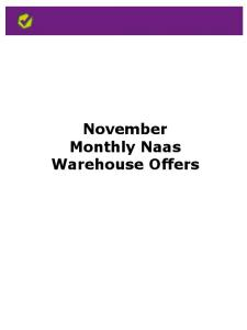 November Monthly Naas Warehouse Offers