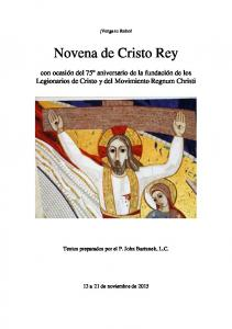 Novena de Cristo Rey