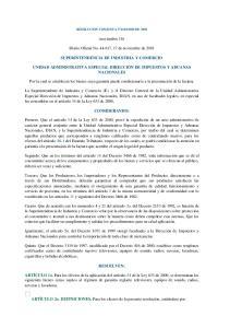(noviembre 16) Diario Oficial No , 17 de noviembre de 2001 SUPERINTENDENCIA DE INDUSTRIA Y COMERCIO