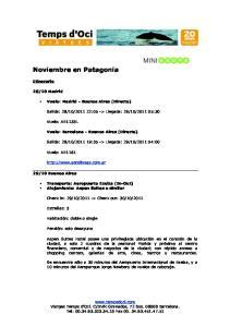 Noviembre en Patagonia