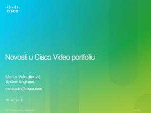 Novosti u Cisco Video portfoliu