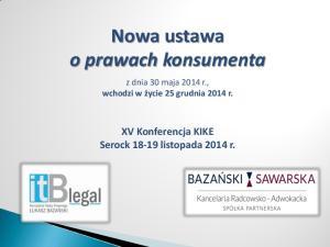 Nowa ustawa o prawach konsumenta