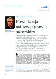 Nowelizacja ustawy o prawie autorskim