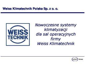 Nowoczesne systemy klimatyzacji dla sal operacyjnych firmy Weiss Klimatechnik