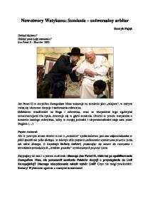 Nowotwory Watykanu: Sumienie uniwersalny arbiter