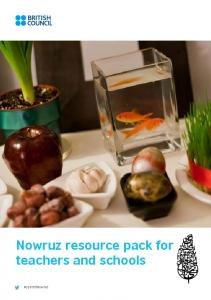 Nowruz resource pack for teachers and schools