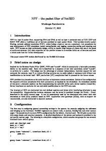 NPF the packet filter of NetBSD