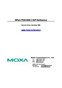NPort PCG SDK 2 API Reference