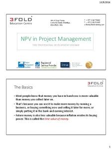 NPV in Project Management