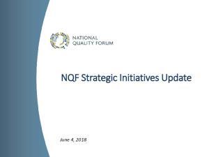 NQF Strategic Initiatives Update