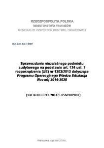 (NR KODU CCI 2014PL05M9OP001)