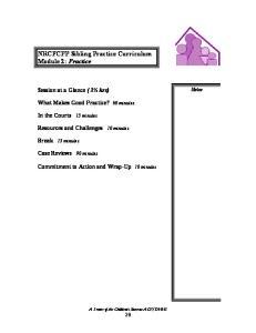 NRCFCPP Sibling Practice Curriculum Module 2: Practice