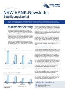 NRW.BANK.Newsletter. Beteiligungskapital. Marktentwicklung. Inhalte des Newsletters
