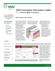 NSAI Homeowner Information Leaflet