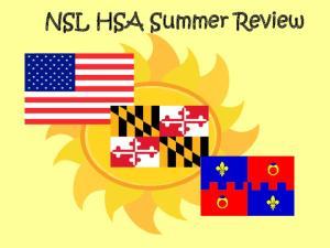 NSL HSA Summer Review