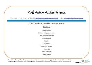 NSW Autism Advisor Program