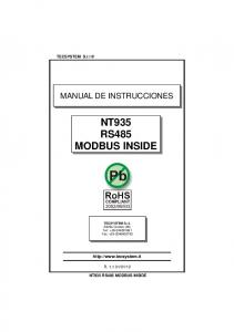 NT935 RS485 MODBUS INSIDE