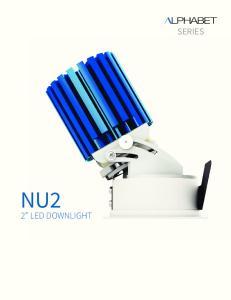 NU2 2 LED DOWNLIGHT SERIES