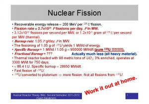 Nuclear Fission. Nuclear Reactor Theory, BAU, Second Semester, (Saed Dababneh)