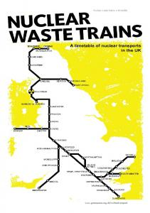 Nuclear waste trains: a timetable