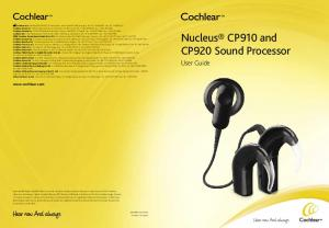 Nucleus CP910 and CP920 Sound Processor User Guide