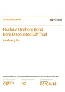 Nucleus Onshore Bond Bare Discounted Gift Trust