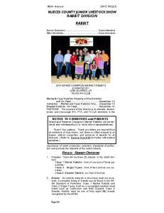 NUECES COUNTY JUNIOR LIVESTOCK SHOW RABBIT DIVISION RABBIT