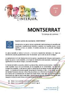 Nuestro camino de crecimiento: MONTSERRAT