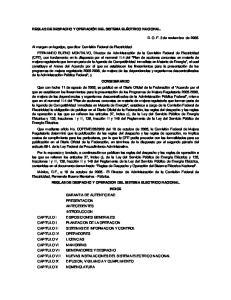NUEVAS INSTALACIONES DEL SISTEMA ELECTRICO NACIONAL DIFUSION, VIGILANCIA Y CUMPLIMIENTO