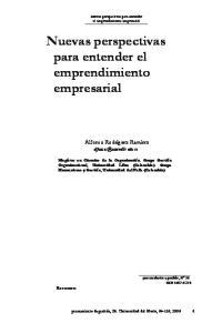 Nuevas perspectivas para entender el emprendimiento empresarial
