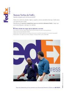 Nuevas Tarifas de FedEx