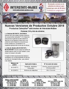 Nuevas Versiones de Productos Octubre 2016