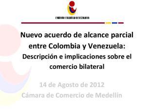 Nuevo acuerdo de alcance parcial entre Colombia y Venezuela: