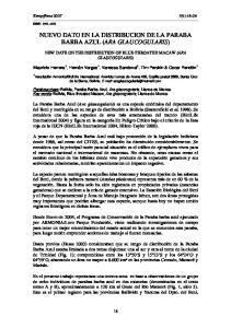 NUEVO DATO EN LA DISTRIBUCION DE LA PARABA BARBA AZUL (ARA GLAUCOGULARIS)